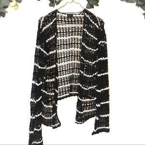 Volcom open sweater shrug black and white